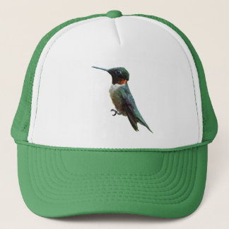 Ruby-Throated Hummingbird Bird Photography Trucker Hat