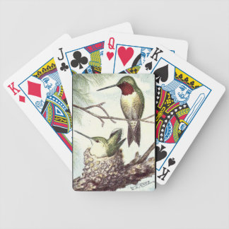 Ruby Throated Hummingbird Birds Playing Cards