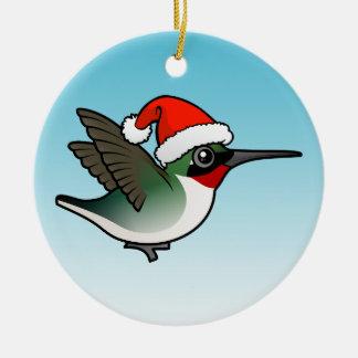 Ruby-throated Hummingbird Christmas Christmas Ornament