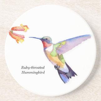 Ruby-throated Hummingbird Coaster