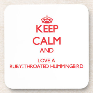 Ruby-Throated Hummingbird Coasters