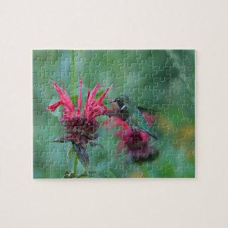 Ruby-throated hummingbird jigsaw puzzle