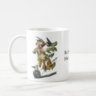 Ruby-throated Hummingbird, John Audubon Basic White Mug