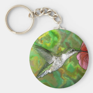 Ruby throated Hummingbird Key Ring