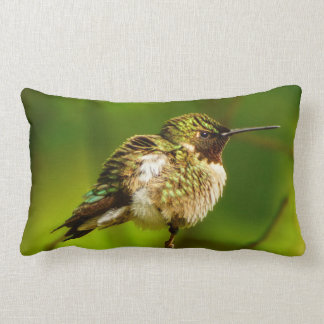 Ruby Throated Hummingbird Lumbar Pillow