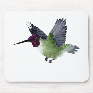 Ruby Throated Hummingbird Male Mouse Pad