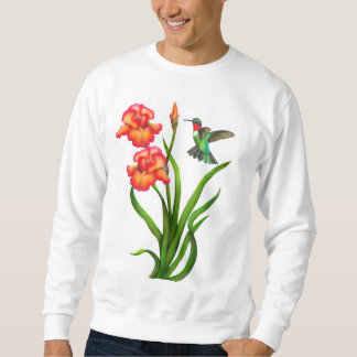Ruby Throated Hummingbird on Iris Flowers Shirt