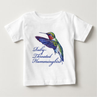 Ruby Throated Hummingbird Scripted Shirt