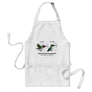 Ruby-throated Hummingbird Statistics Standard Apron