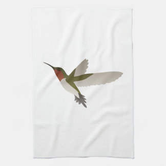 Ruby Throated Hummingbird Tea Towel
