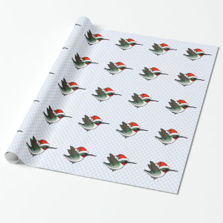 Ruby-throated Santa Wrapping Paper