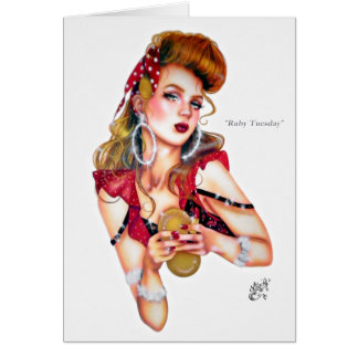Ruby Tuesday by Elizabeth Austin Greeting Card
