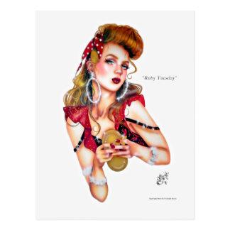 Ruby Tuesday by Elizabeth Austin Postcard