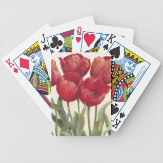 Ruby Tulips Bicycle Playing Cards