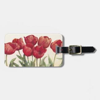Ruby Tulips Luggage Tag