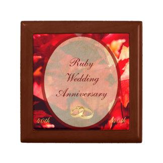 Ruby Wedding Anniversary Gift Box