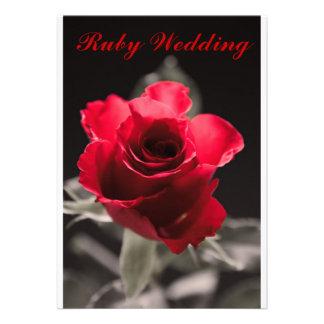 Ruby Wedding Card Custom Announcements