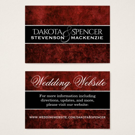 Ruby Wedding | Crimson Garnet Red Theme Insert