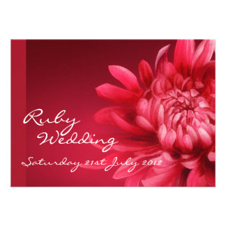 Ruby wedding party invite 40th