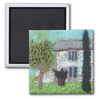 Ruby Wings Designs French Interlude Square Magnet