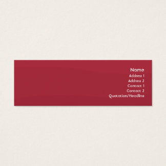 Rubyred Wave - Skinny Mini Business Card