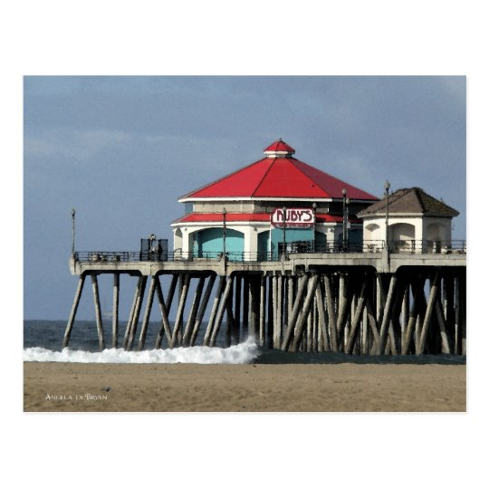 Ruby's Diner - Huntington Beach Pier Postcard