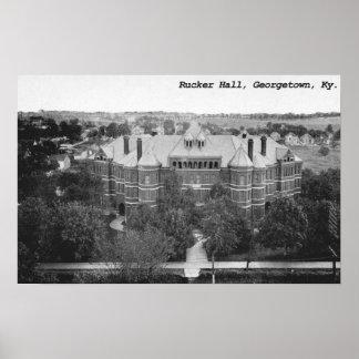 Rucker Hall, Georgetown College, Kentucky Poster
