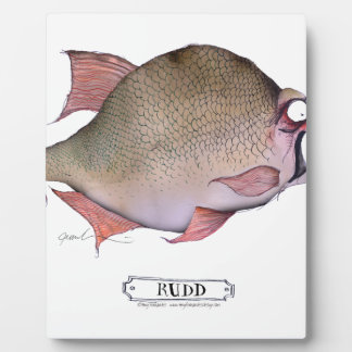 Rudd fish, tony fernandes plaque