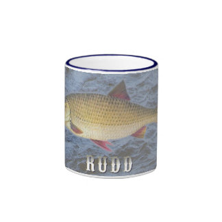 Rudd Freshwater Fish, With Water Background Image Ringer Coffee Mug