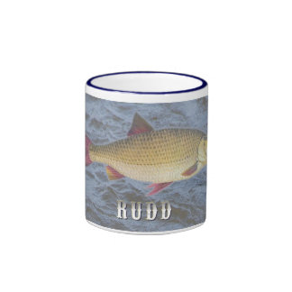 Rudd Freshwater Fish, With Water Background Image Ringer Mug