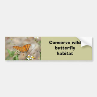 Ruddy Daggerwing butterfly bumper sticker