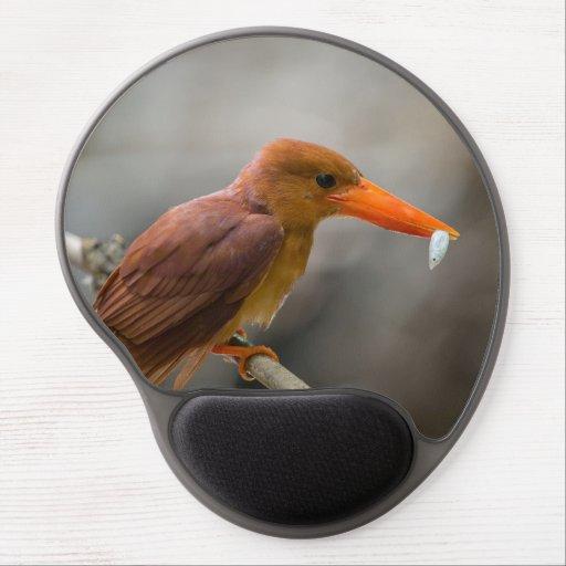 Ruddy Kingfisher Bird National Park Thailand Gel Mousepads