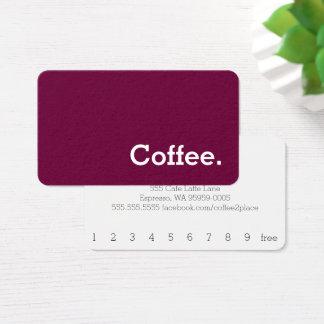 Ruddy Simple Word Dark Loyalty Coffee Punch-Card Business Card