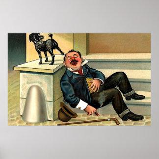 RUDE AWAKENING - Vintage Dog Art Poster