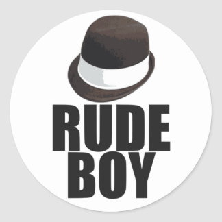 Rude Boy Classic Round Sticker