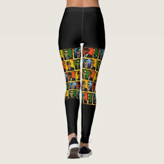 Rude Boy USA Abstract Leggings (Front and Back)