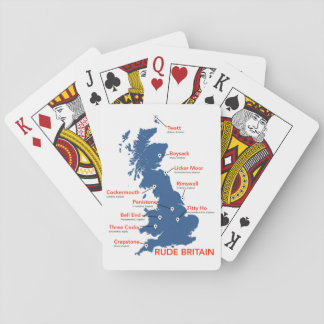 Rude Britain: all real placenames. Playing Cards