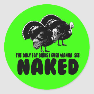 Rude chicken round sticker