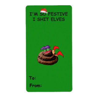 Rude Christmas Shipping Label