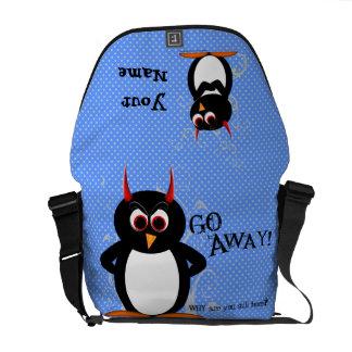 Rude Evil Penguin Rickshaw Messenger Bag