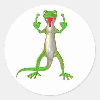 Rude Gecko Lizard Sticker