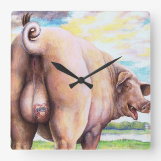Rude Pig Clock