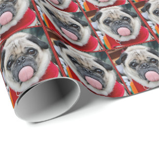 Rude Pug Wrapping Paper
