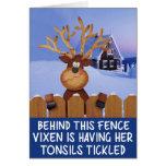 Rude reindeer Christmas Greeting Cards