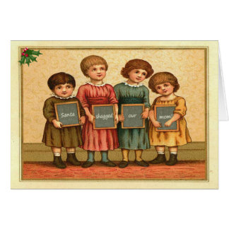 Rude Santa Claus Greeting Card