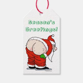 Rude Santa Gift Tags