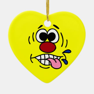 Rude Smiley Face Grumpey Christmas Ornament