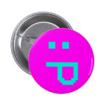 rude smiley pinback buttons
