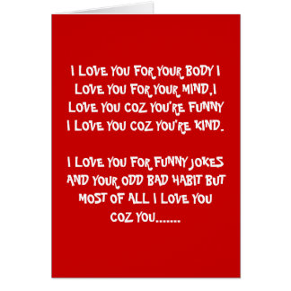 Rude Valentine's day Greeting Card