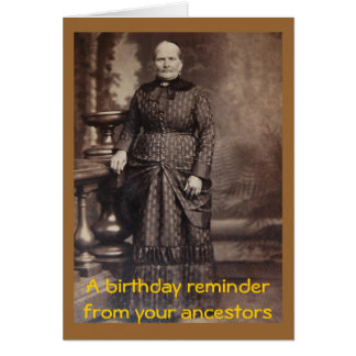 Rude Vintage Fun Happy Birthday Card